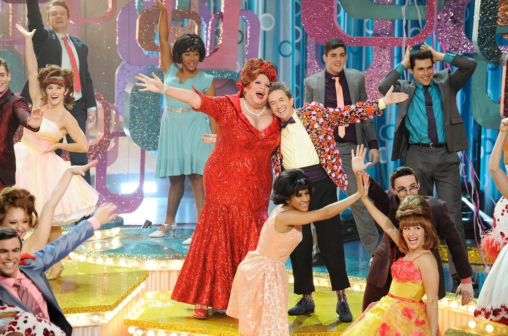 Harvey Fierstein as Edna Turnblad, Martin Short as Wilbur Turnblad in Hairspray Live!
