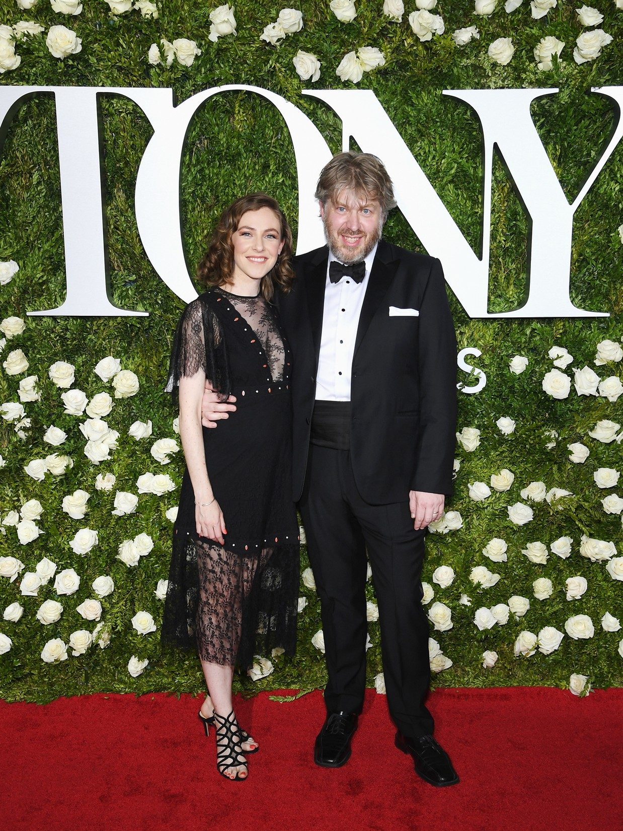 Eliza Bent and Dave Malloy attend the 2017 Tony Awards at Radio City Music Hall on June 11, 2017 in New York City.