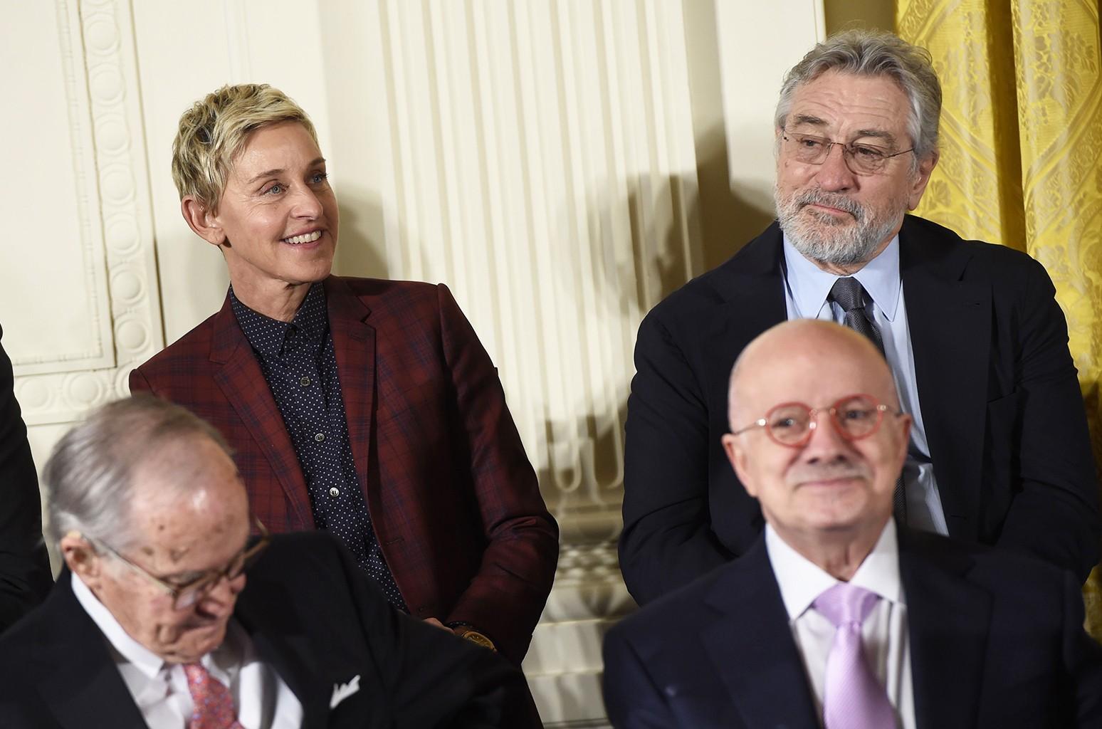 Ellen DeGeneres and Robert DeNiro