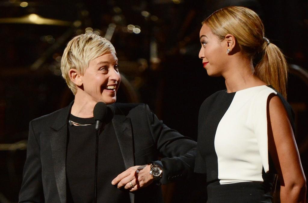 Ellen DeGeneres and Beyonce speak