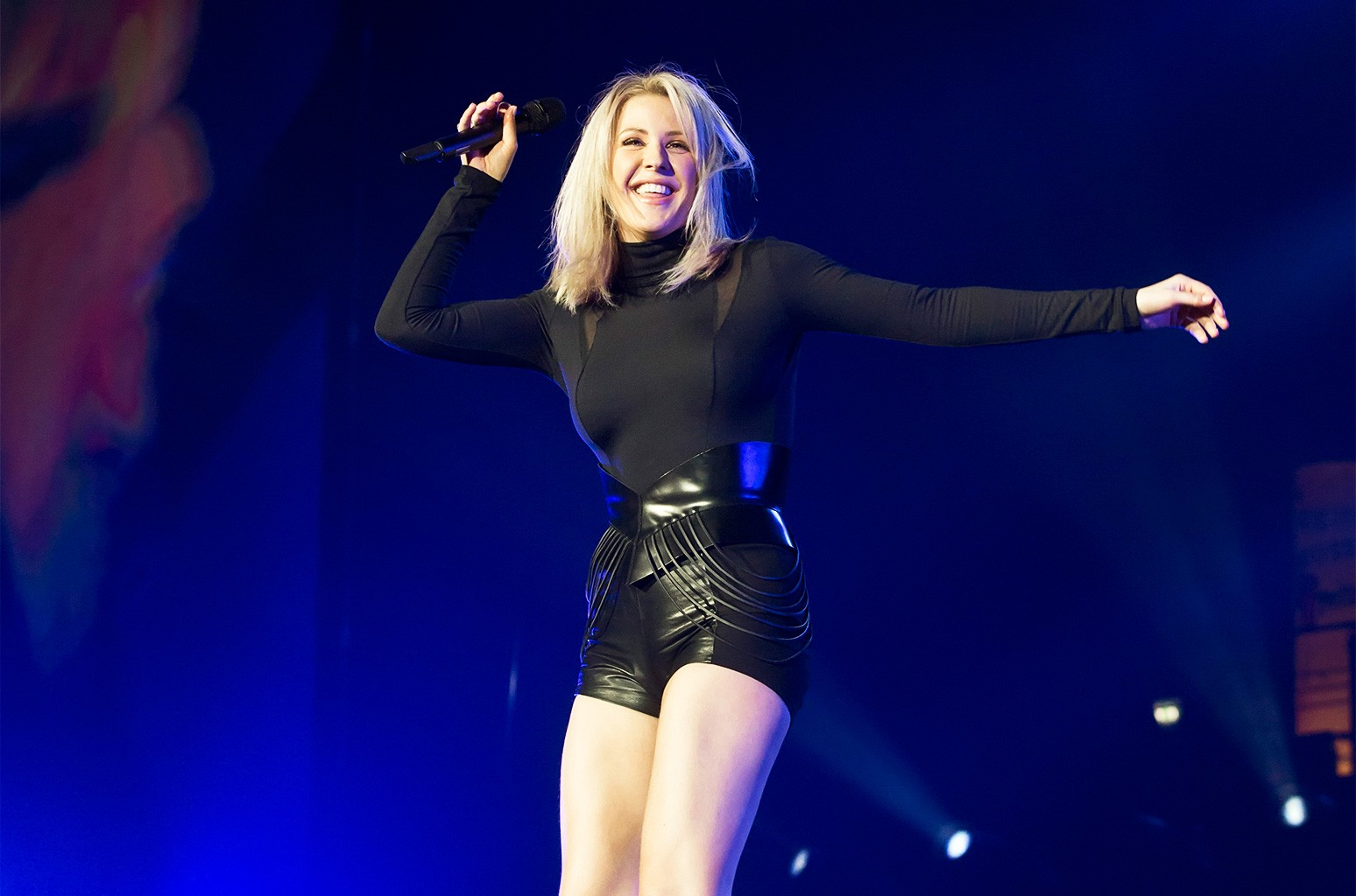 Ellie Goulding performs live during a concert at the Max-Schmeling-Halle on Jan. 22, 2016 in Berlin, Germany. (Photo by Frank Hoensch/Redferns via Getty Images)