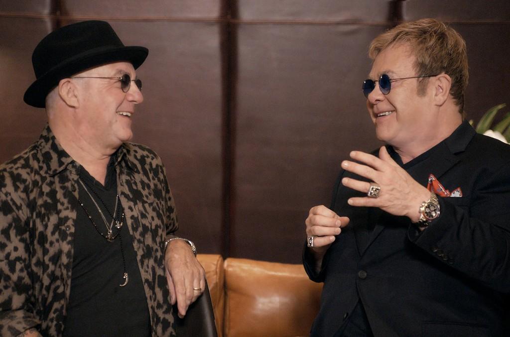 Bernie Taupin and  Elton John