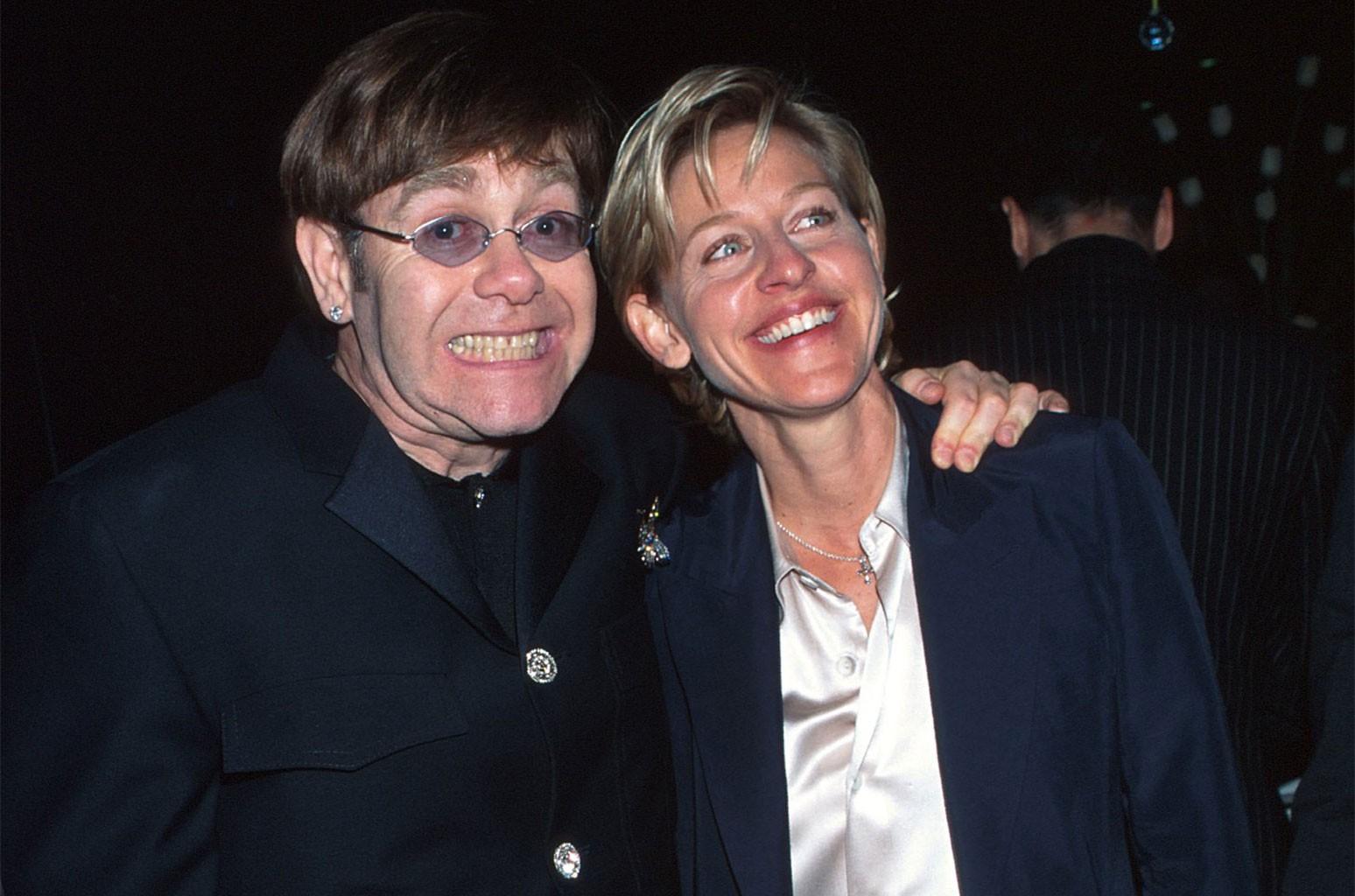 Elton John and Ellen Degeneres
