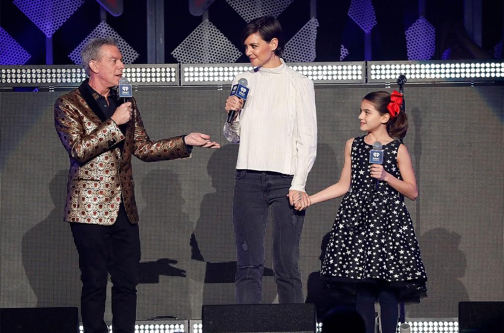 Elvis Duran, Katie Holmes, and Suri Cruise