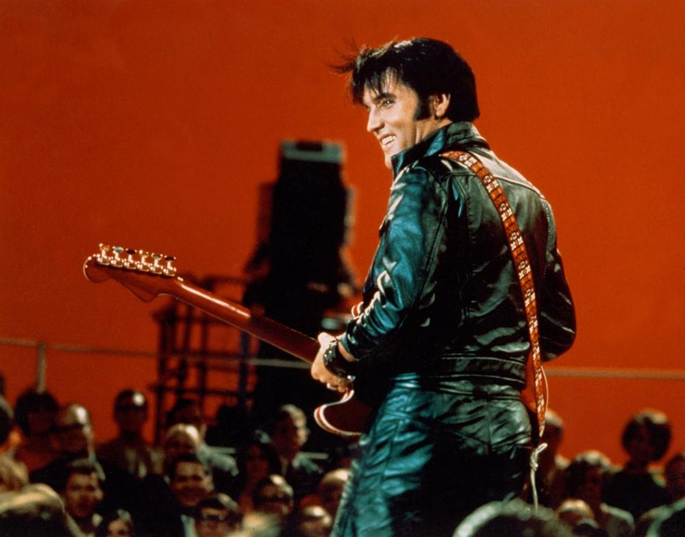 Elvis Presley performing on his comeback TV special