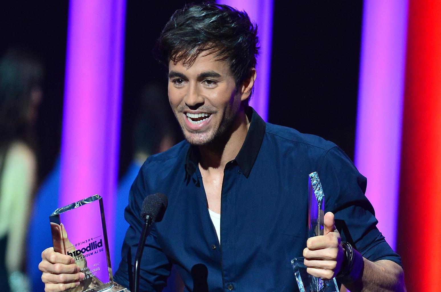 Enrique Iglesias during the 2015 Billboard Latin Music Awards