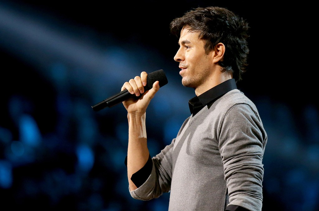 Enrique Iglesias speaks onstage during The 57th Annual Grammy Awards at STAPLES Center on Feb. 8, 2015 in Los Angeles.