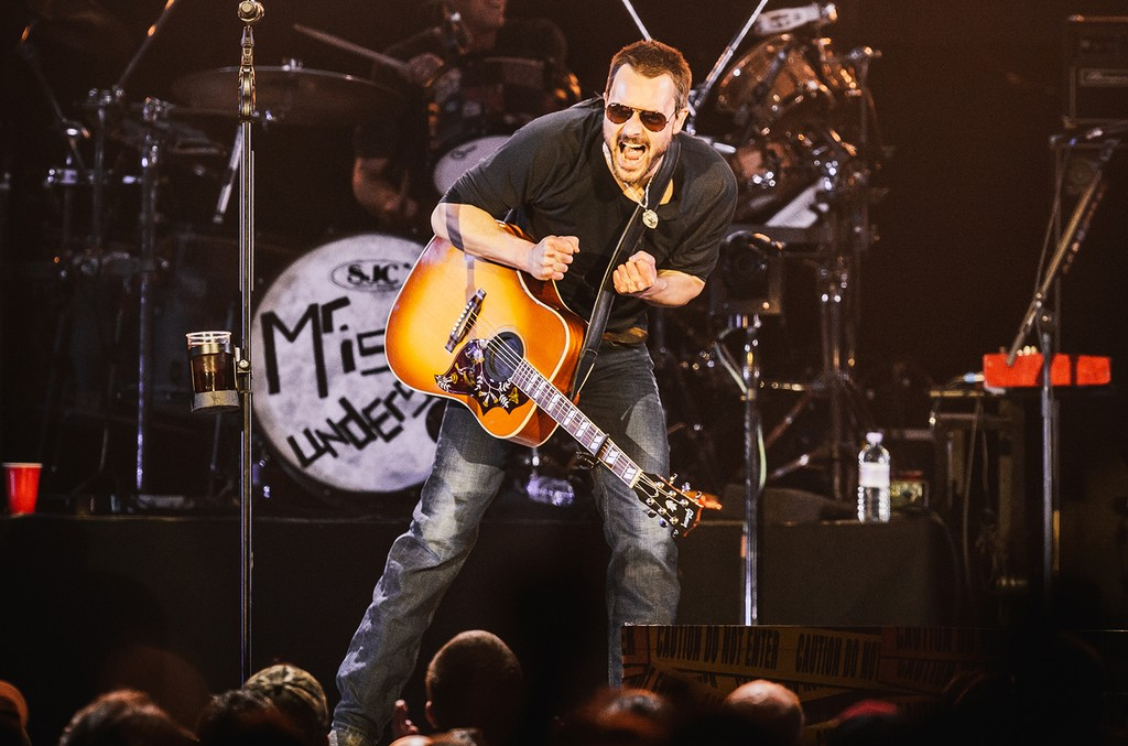 Eric Church performs on day 3 of C2C - Country 2 Country festival at The O2 Arena on March 13, 2016 in London.