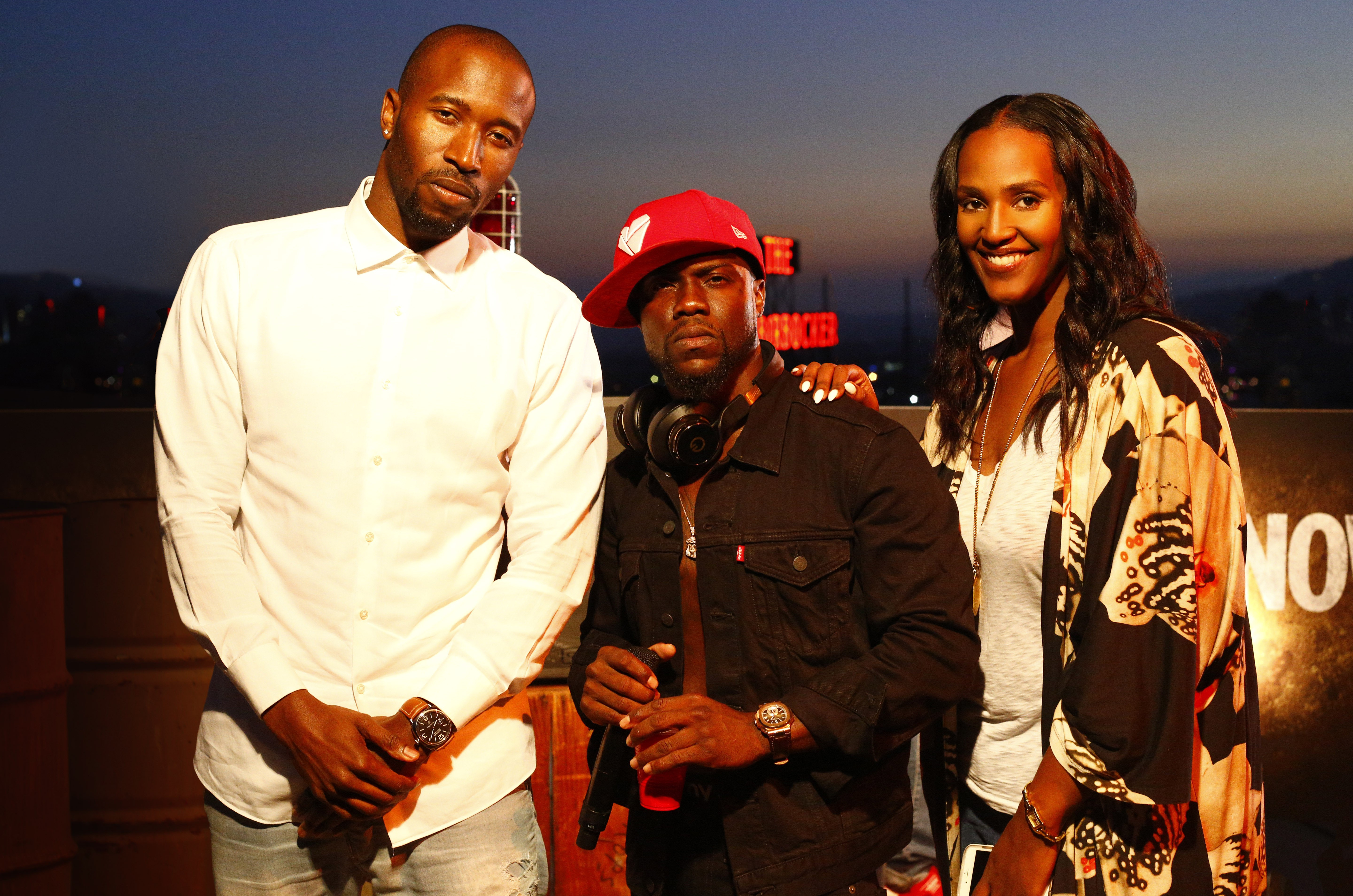 Motown Records Senior VP of A&R Ezekiel Lewis, Chocolate Droppa and Motown president Ethiopia Habtemariam