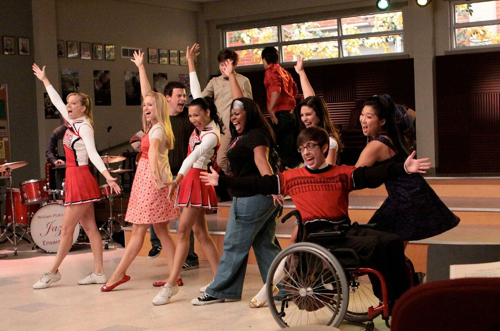 The cast of Glee in 2009.