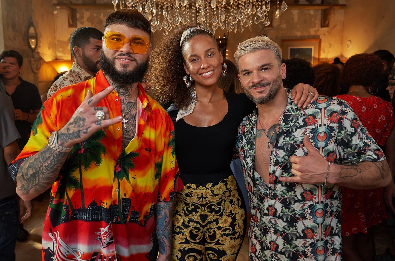 Farruko, Alicia Keys and Pedro Capo