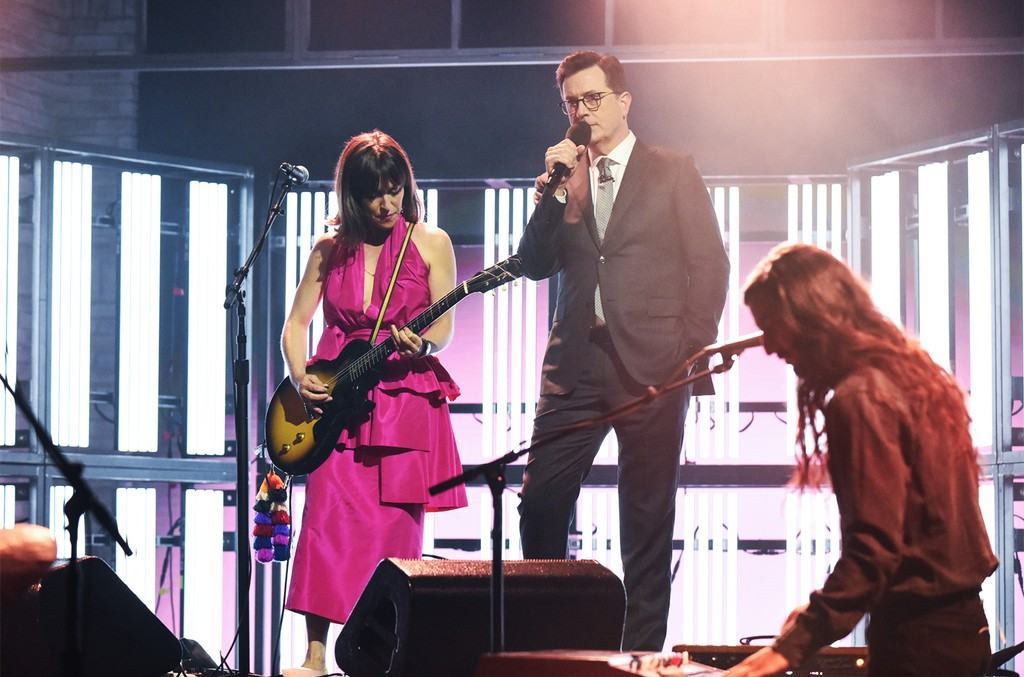 Feist Performs 'Century' on The Late Show with Stephen Colbert on June 6, 2017.