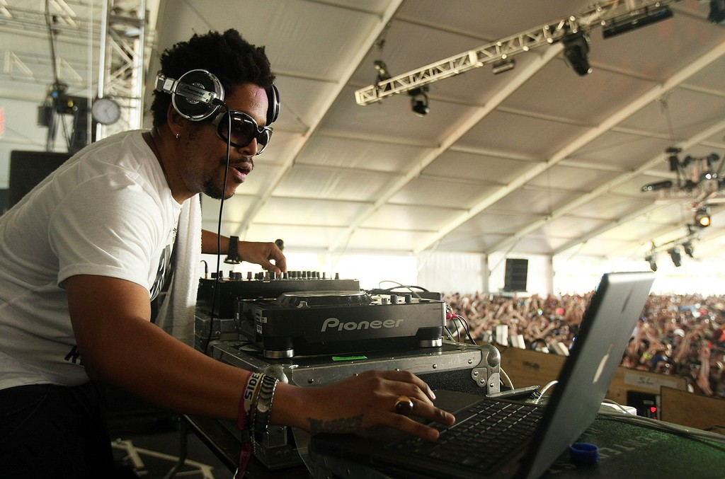 Felix Da Housecat performs during day one of the Coachella Valley Music.