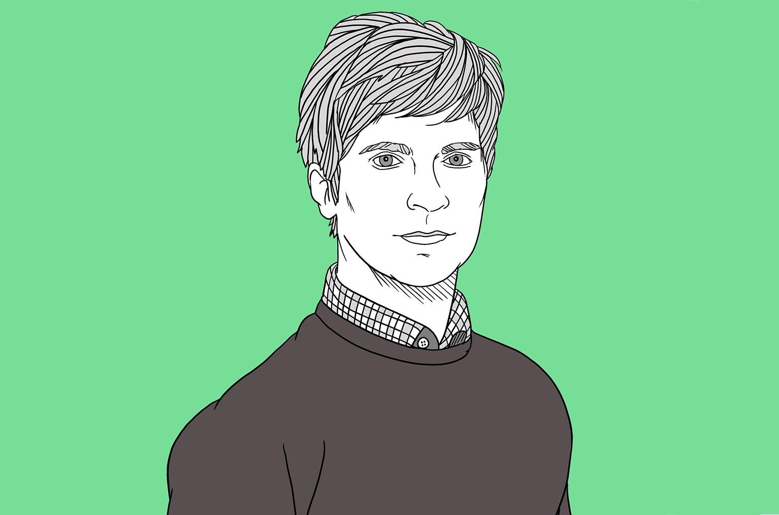 An illustration of Matthew Caws