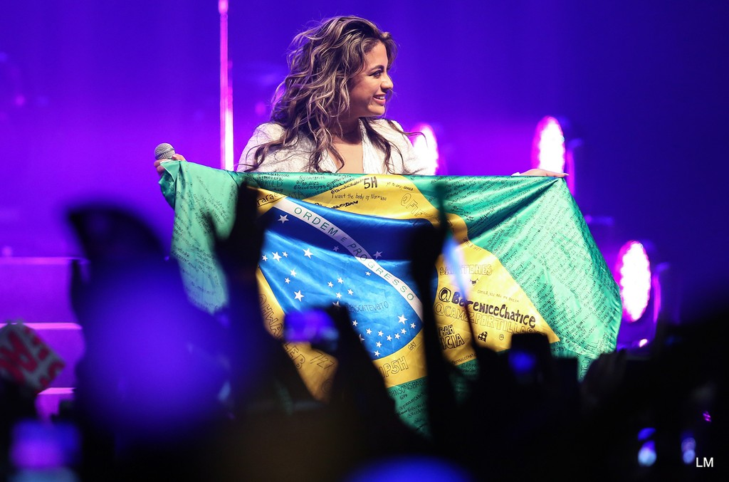 Fifth Harmony onstage in Rio de Janeiro on July 4, 2016.