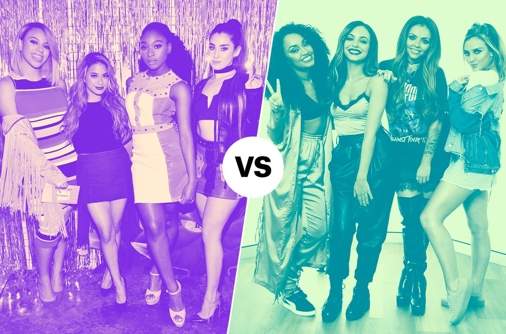 Fifth Harmony (left) & Little Mix (right)