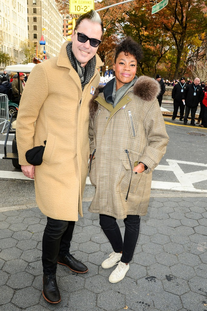 Michael Fitzpatrick and Noelle Scaggs, of Fitz And The Tantrums, attend the 90th Annual Macy's Thanksgiving Day Parade on Nov. 24, 2016 in New York City.