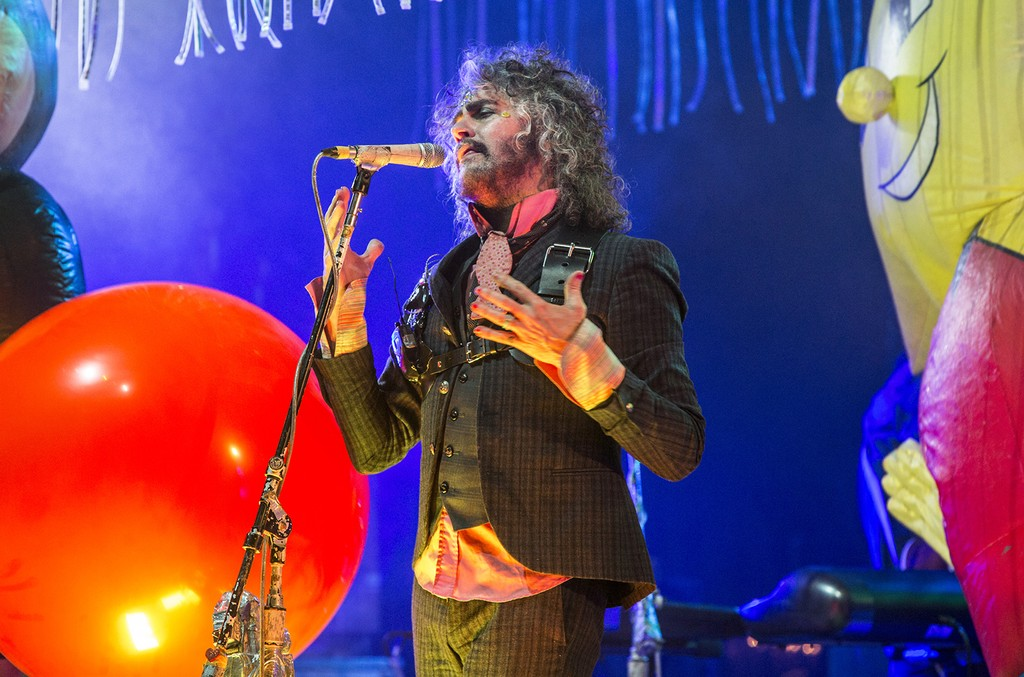 Wayne Coyne of The Flaming Lips performs at The Theatre at Ace Hotel on May 9, 2017 in Los Angeles.