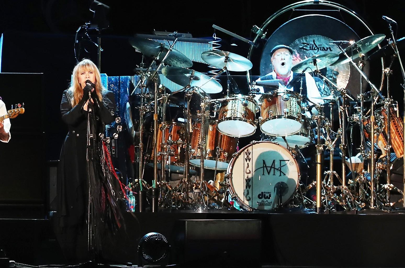 Stevie Nicks and Mick Fleetwood of Fleetwood Mac