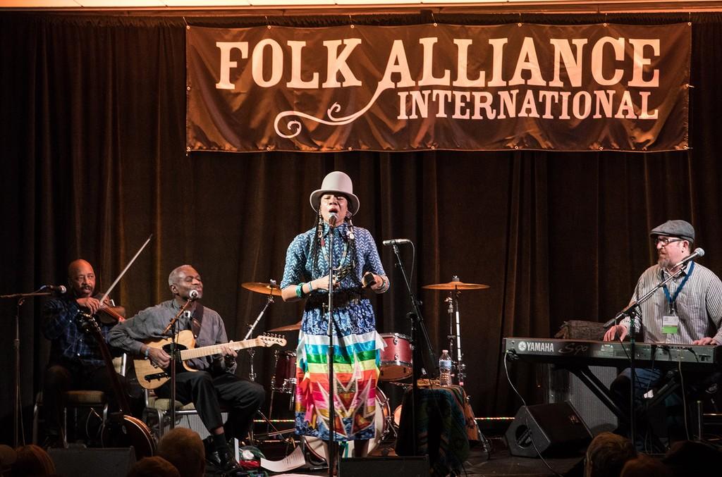Martha Redbone at the Folk Alliance International Conference 2018.