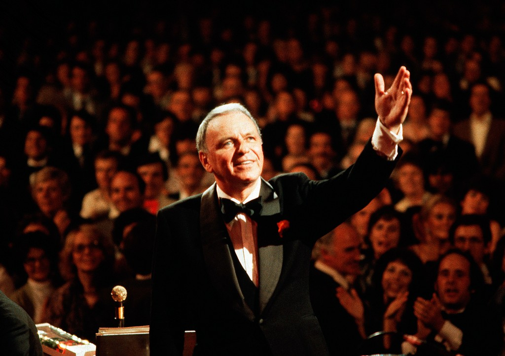 Frank Sinatra performing live in 1980.