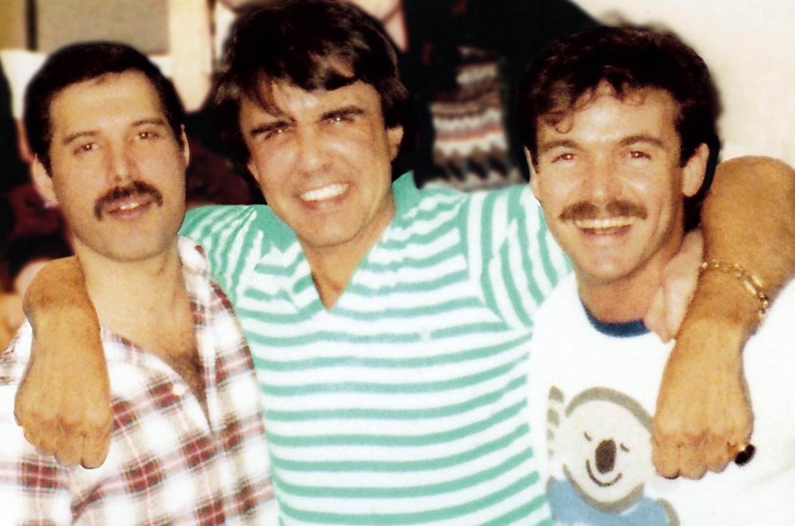 Freddie Mercury, Dave Clark and John Christie