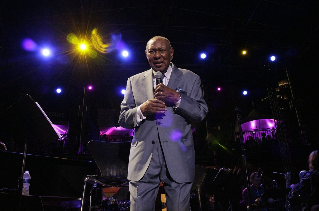 Freddy Cole photographed on Sept. 4, 2016 at Detroit Jazz Festival.