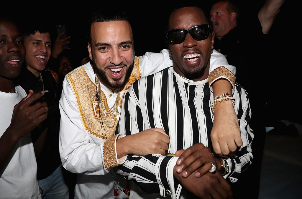 French Montana and Diddy backstage at the 2017 BET Awards at Microsoft Theater on June 25, 2017 in Los Angeles.