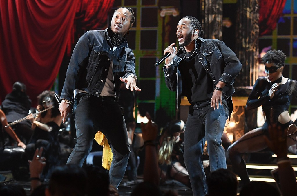 Future and Kendrick Lamar perform onstage at 2017 BET Awards at Microsoft Theater on June 25, 2017 in Los Angeles.