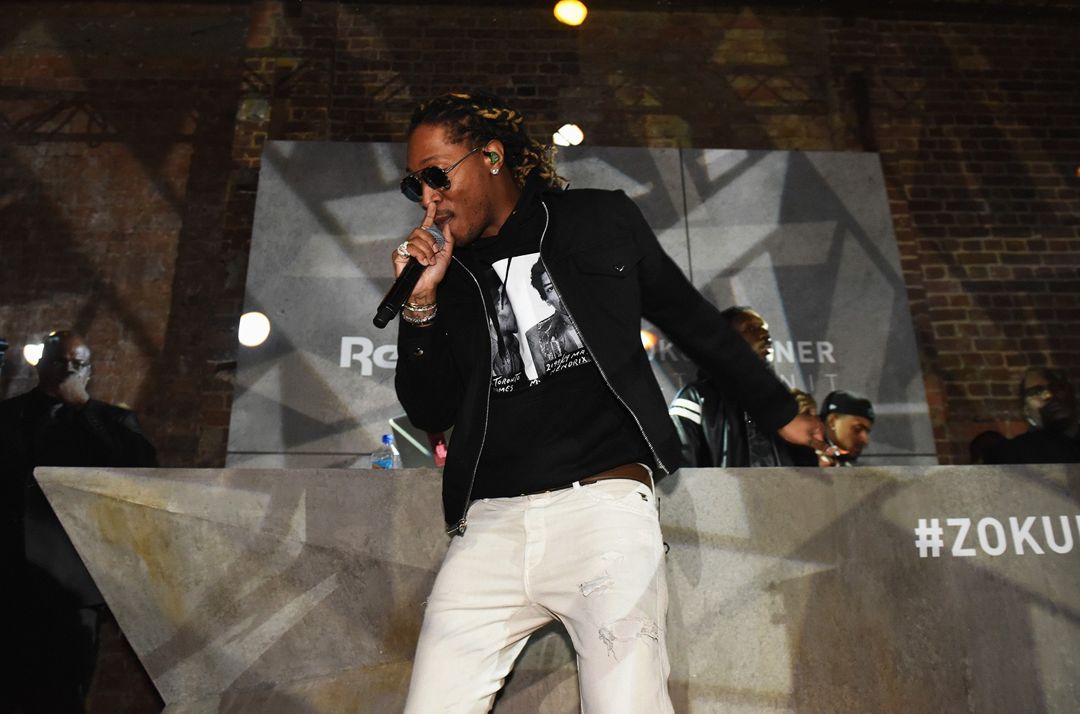 Future headlines at the global launch of Reebok Classics new Zoku Runner at Village Underground on March 2, 2017 in London, England.