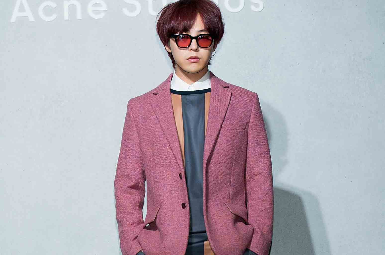 G-Dragon aka Kwon Ji-Yong of South Korean boy band Bigbang attends the launch party for 'Acne Studio' flagship store on Sept. 18, 2015 in Seoul.