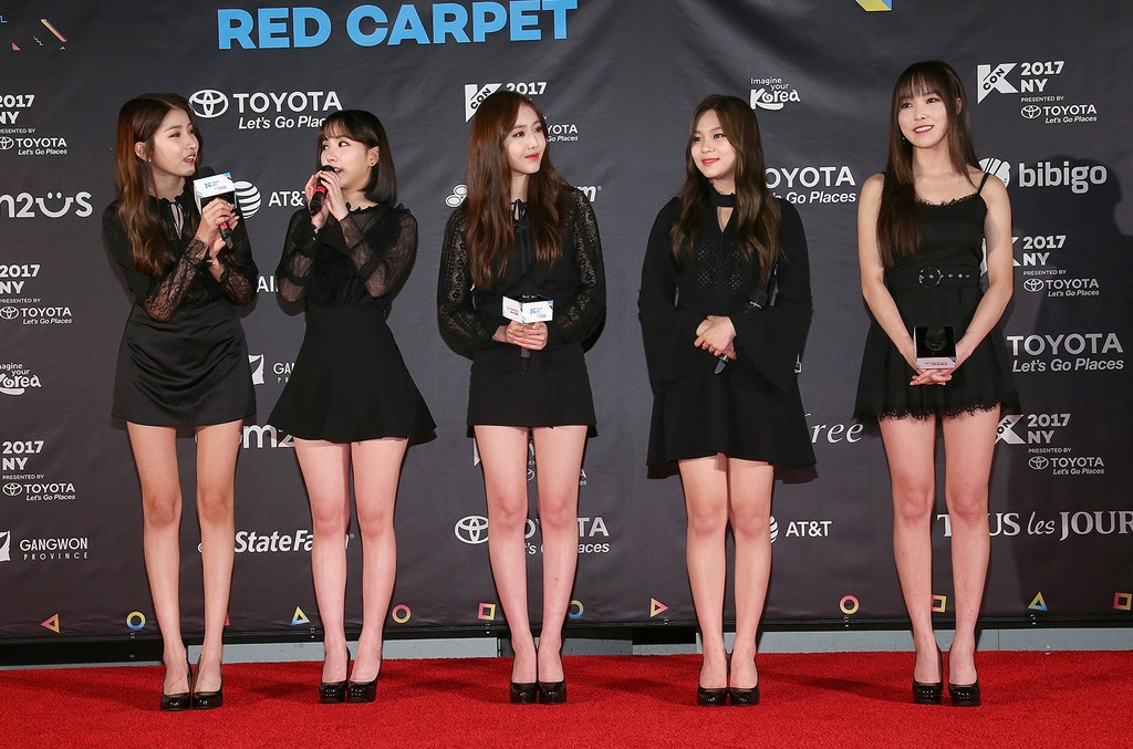 GFRIEND attend KCON 2017 Red Carpet at Prudential Center on June 23, 2017 in Newark, N.J.