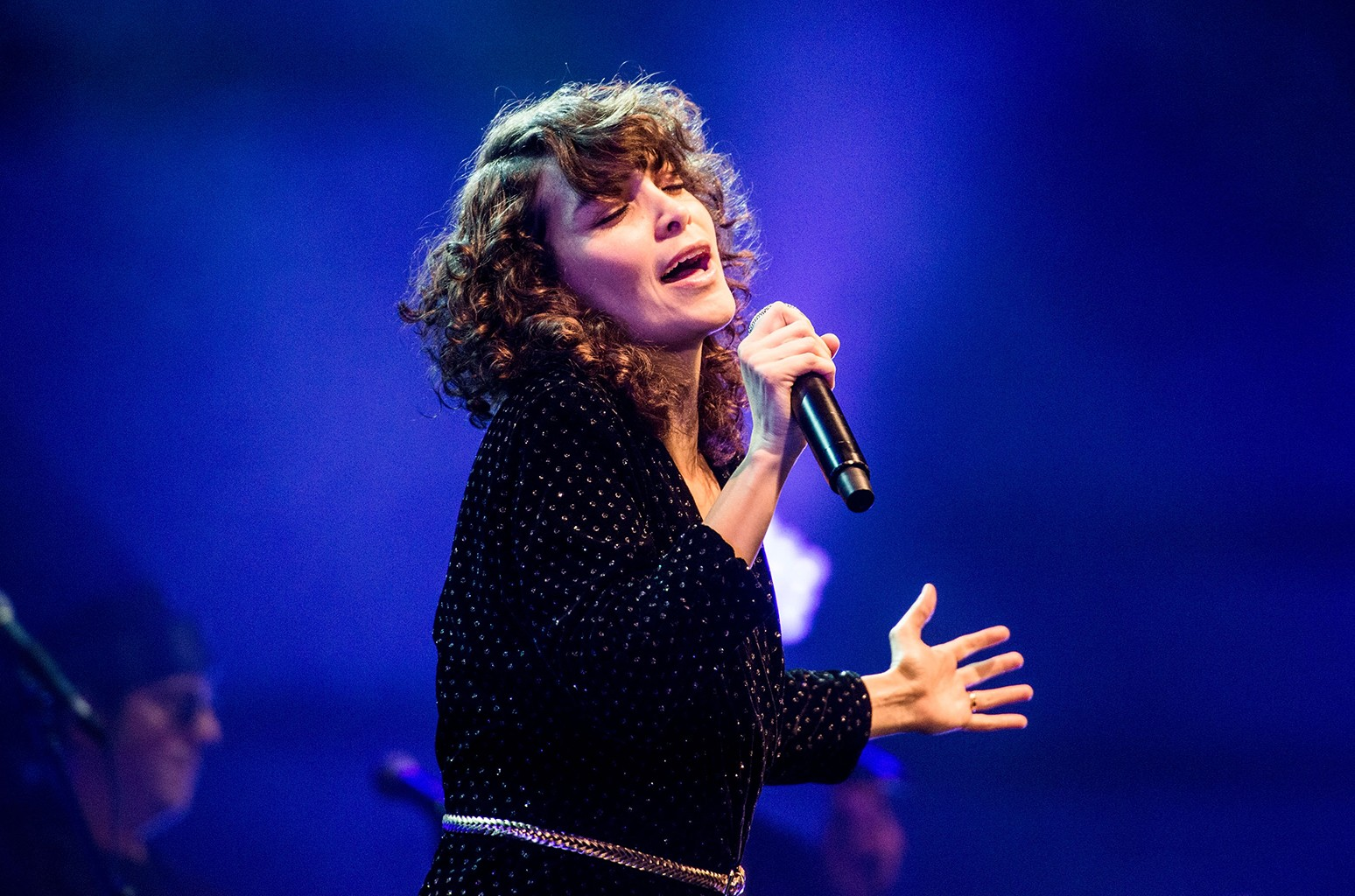 Gaby Moreno performs during a night of celebrating David Bowie at The Wiltern on Jan. 25, 2017 in Los Angeles.