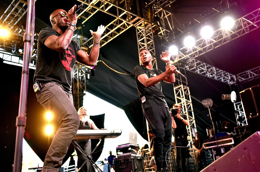 Seal and Gallant perform onstage during day 1 of the 2016 Coachella Valley Music & Arts Festival Weekend 1 at the Empire Polo Club on April 15, 2016 in Indio, Calif.