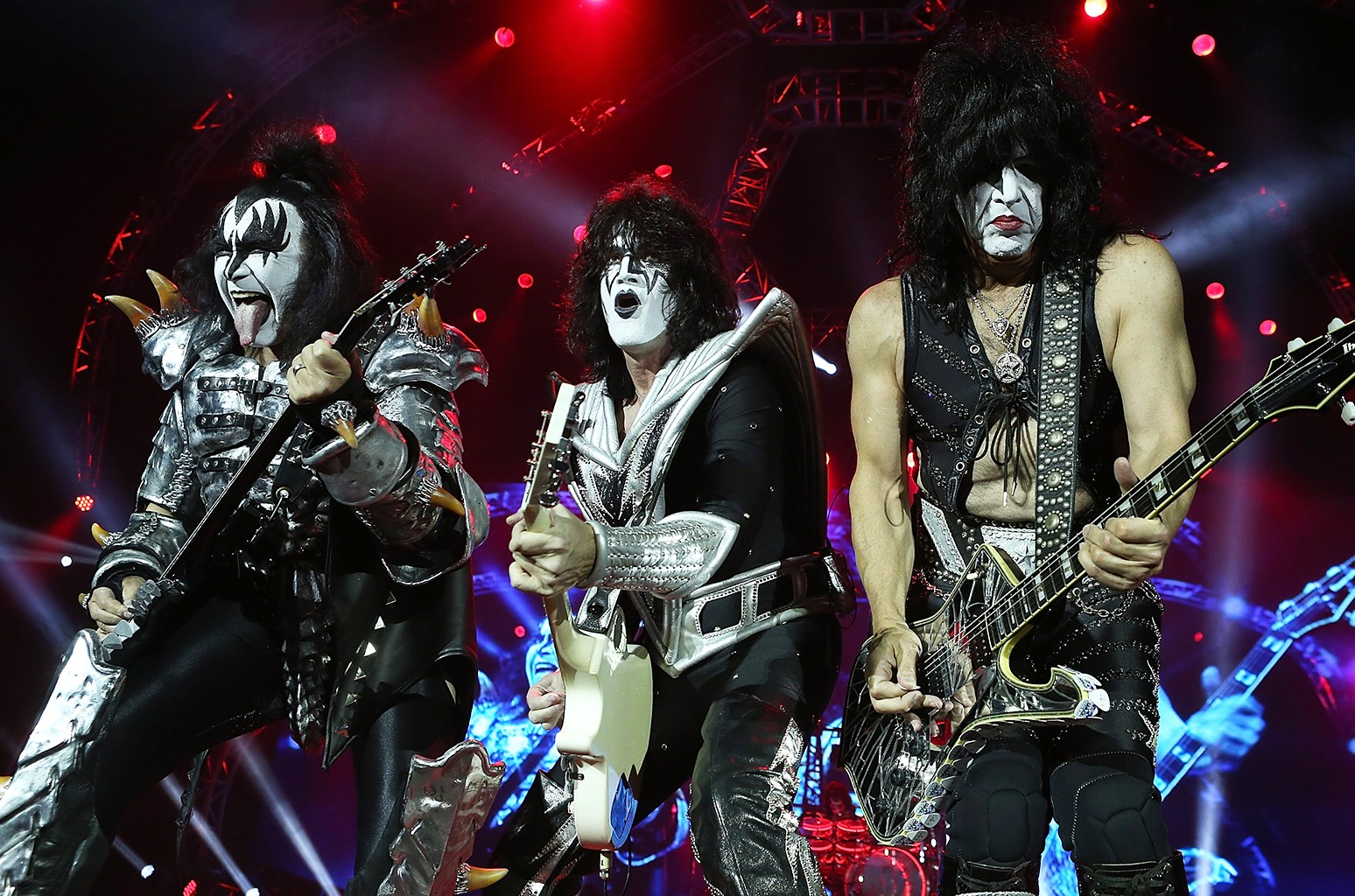 Gene Simmons, Tommy Thayer and Paul Stanley of KISS
