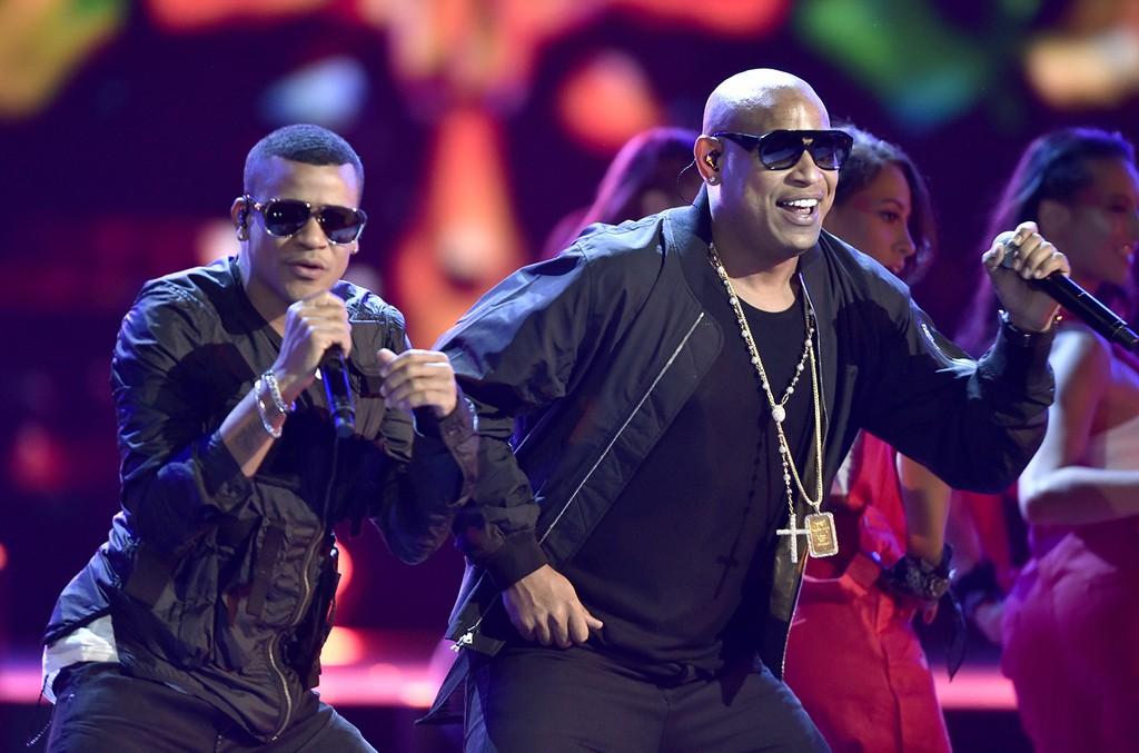 Gente De Zona perform during the 2016 Latin American Music Awards