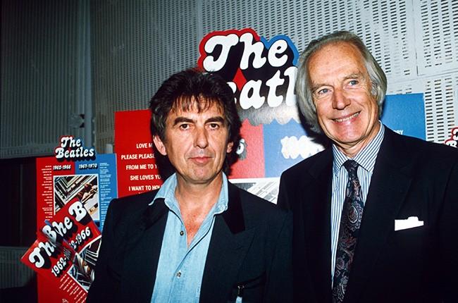 George Martin and George Harrison
