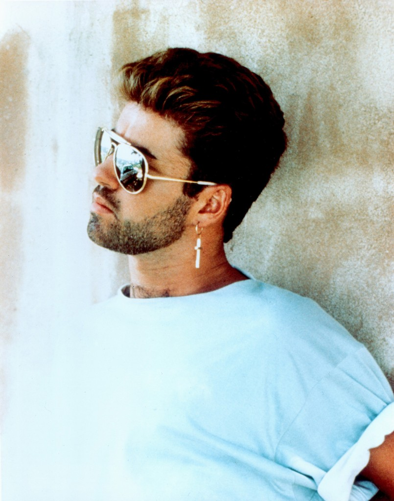 George Michael photographed in 1990.