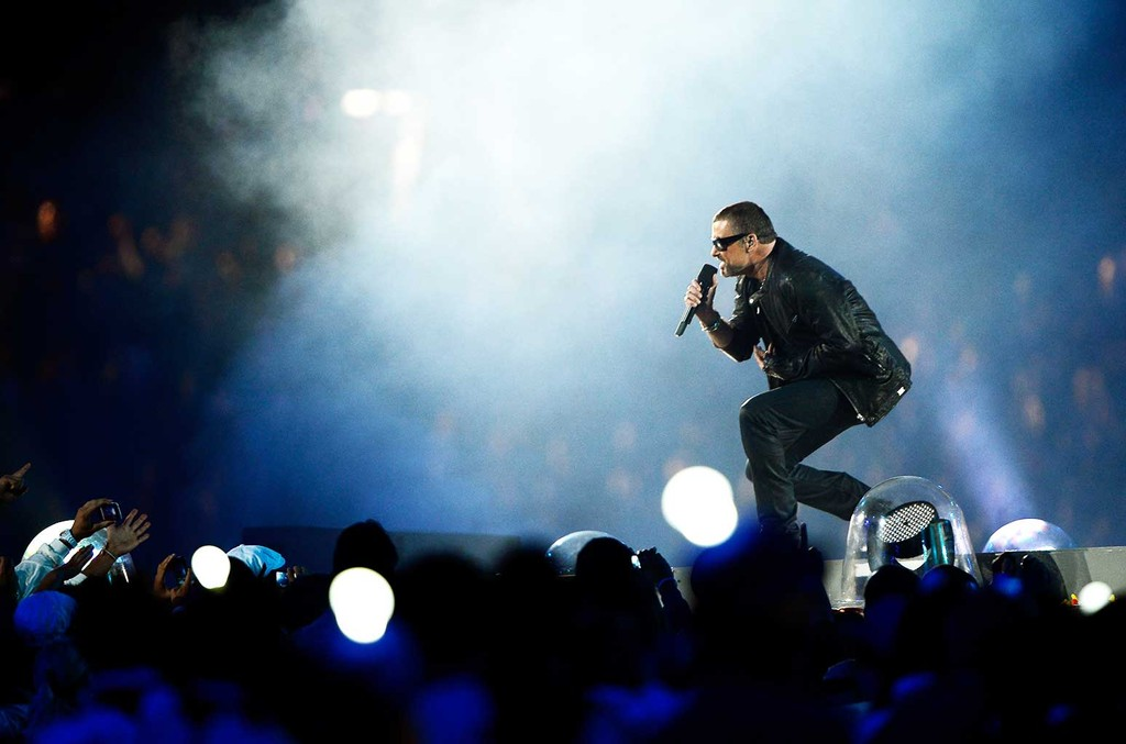 George Michael performs during the Closing Ceremony on Day 16 of the London 2012 Olympic Games at Olympic Stadium on Aug. 12, 2012 in London, England.