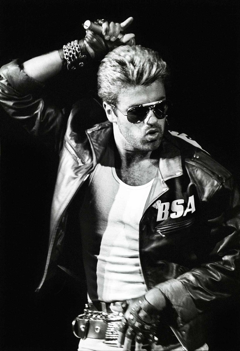 George Michael performs on stage during the Faith Tour in Rotterdam, Netherlands on April 12, 1988.