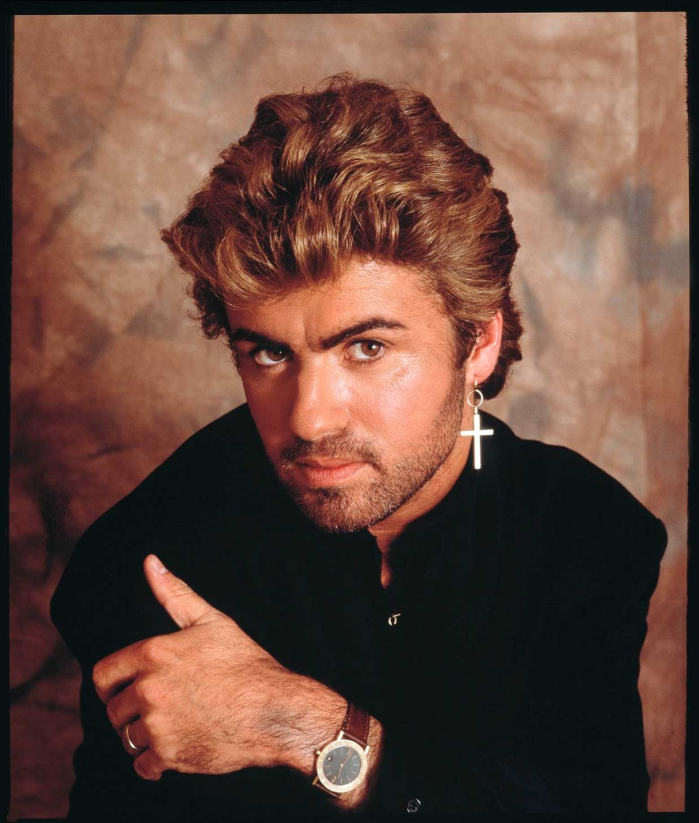 George Michael photographed in London in 1987.