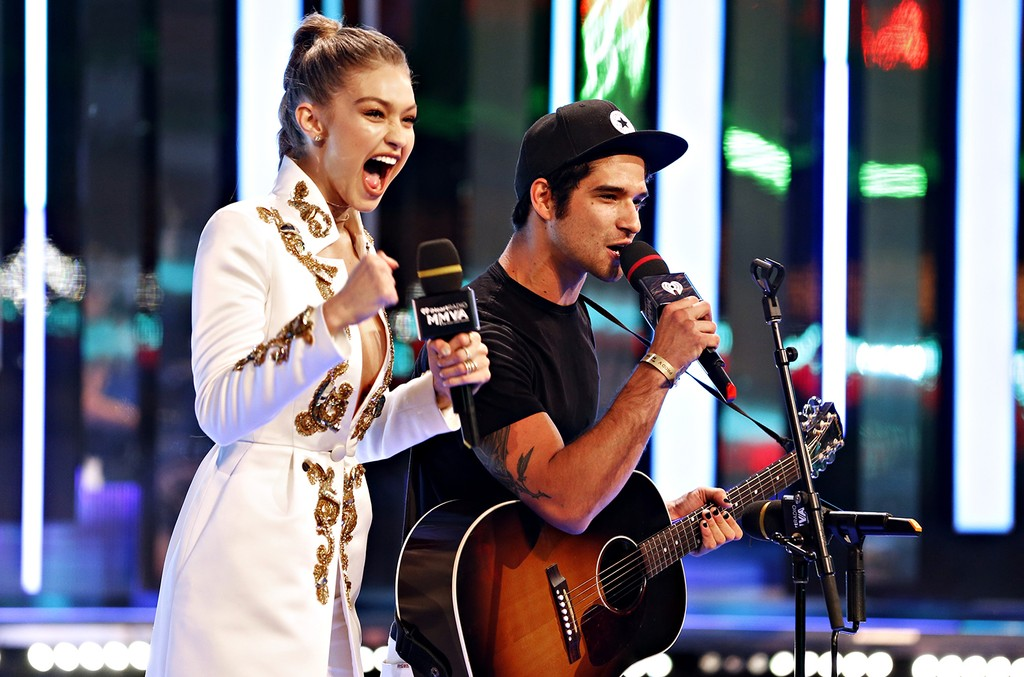 Gigi Hadid and Tyler Posey at the 2016 iHeartRADIO MuchMusic Video Awards