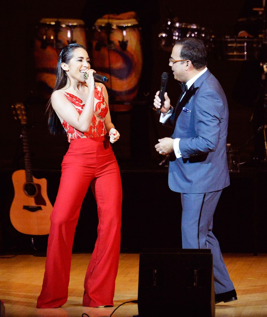 """Ana Isabelle was the guest artist at salsa star Gilberto Santarosa's Carnegie Hall Concert, """"The Man And His Music"""" on June 4.  Ana Isabelle sang two songs with Santarosa."""