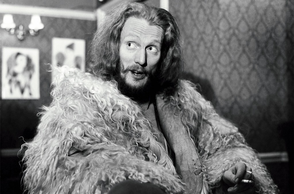 Baker, in shearling coat and snakeskin boots, in 1970.