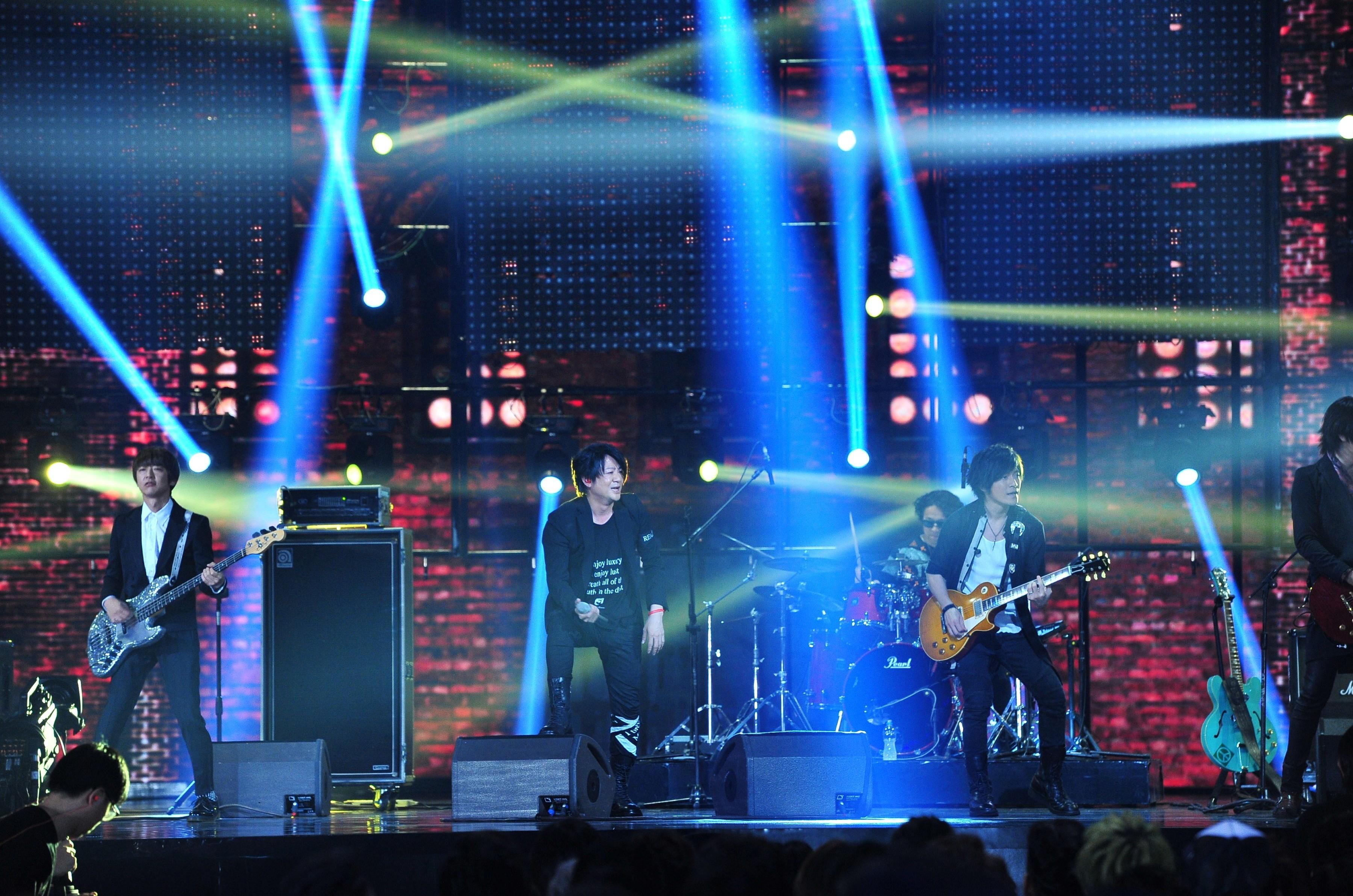 Glay perform at the 2017 Golden Melody Awards