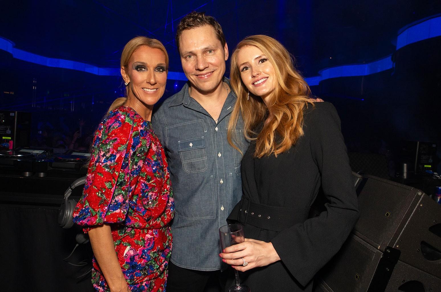 Celine Dion, Tiësto, and Annika Backes