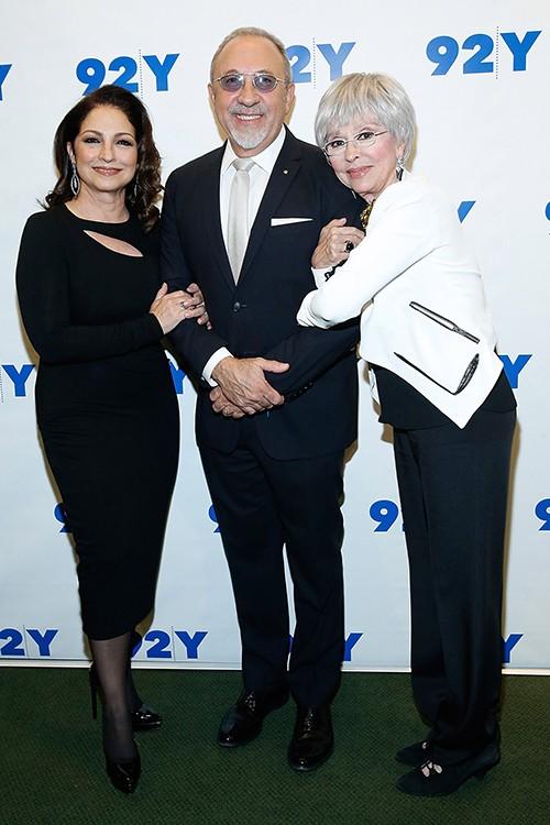 Gloria Estefan, Emilio Estefan and Rita Moreno attend Gloria and Emilio Estefan in conversation with Rita Moreno