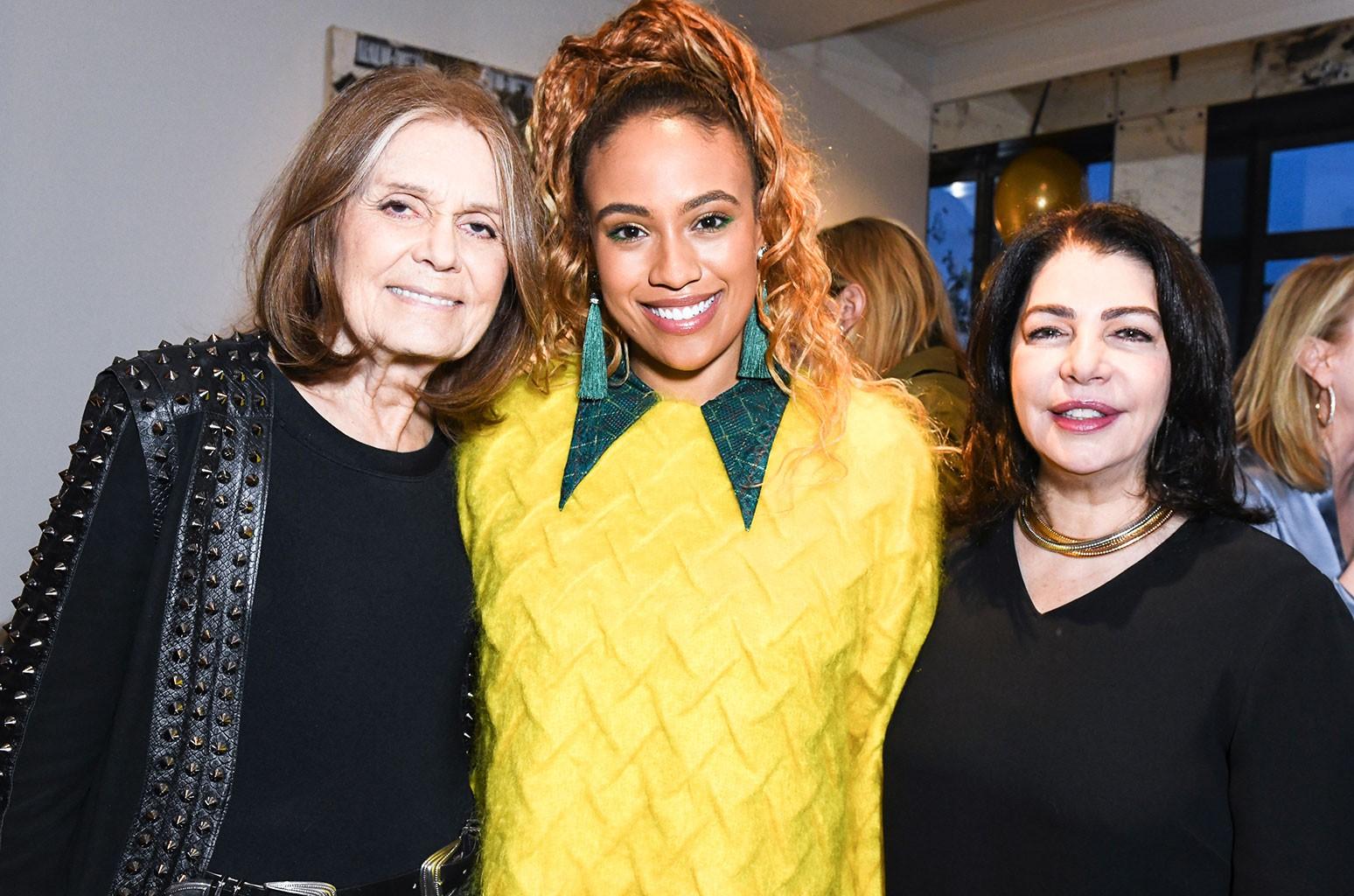 Gloria Steinem, Ezinma and Michele Anthony