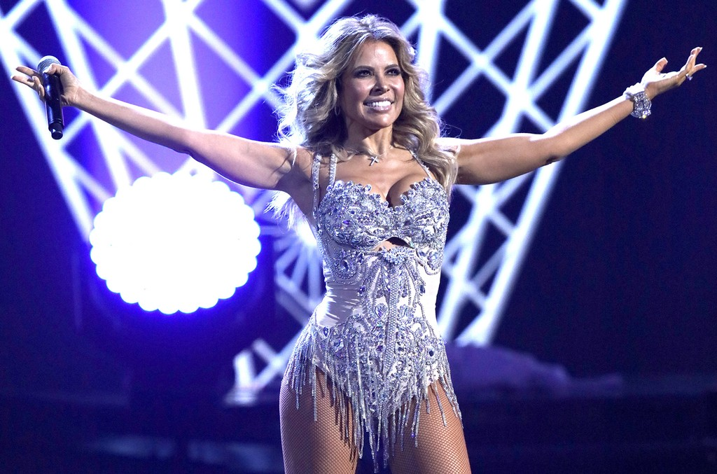 Gloria Trevi performs during the 2015 Latin American Music Awards