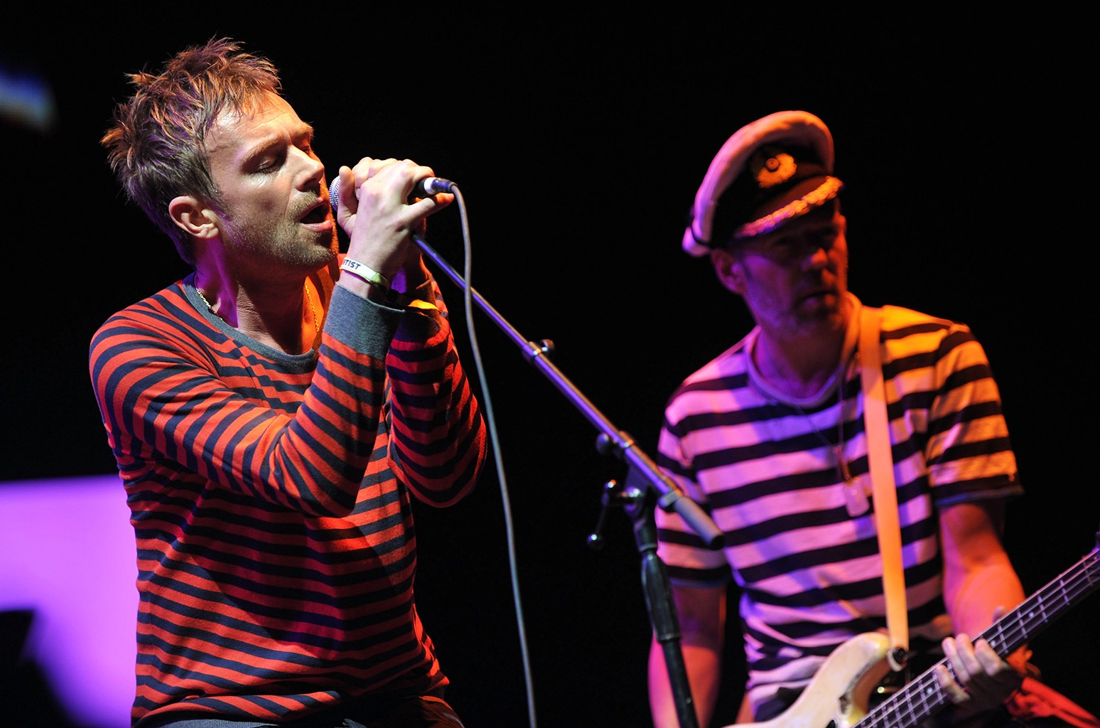 Gorillaz perform during the Coachella Valley Music & Art Festival 2010 held at the Empire Polo Club on April 18, 2010 in Indio, Calif.